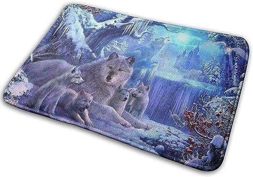 Amazon.com: Bath Mat Wolf Animals Winter Memory Foam Bath Mats Non