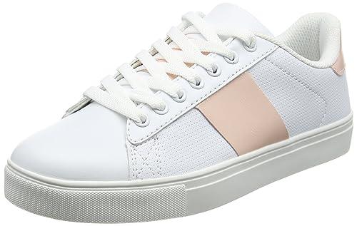 Spot On H2426, Zapatillas Chica, Blanco (White/Pink JM4), 34 EU: Amazon.es: Zapatos y complementos