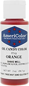 Orange Oil-Based Candy Color 2 Ounces by Americolor