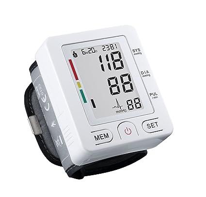 Digital de Tensiómetro de muñeca con caso, FDA genehmigt, gran pantalla LCD, Capacidad