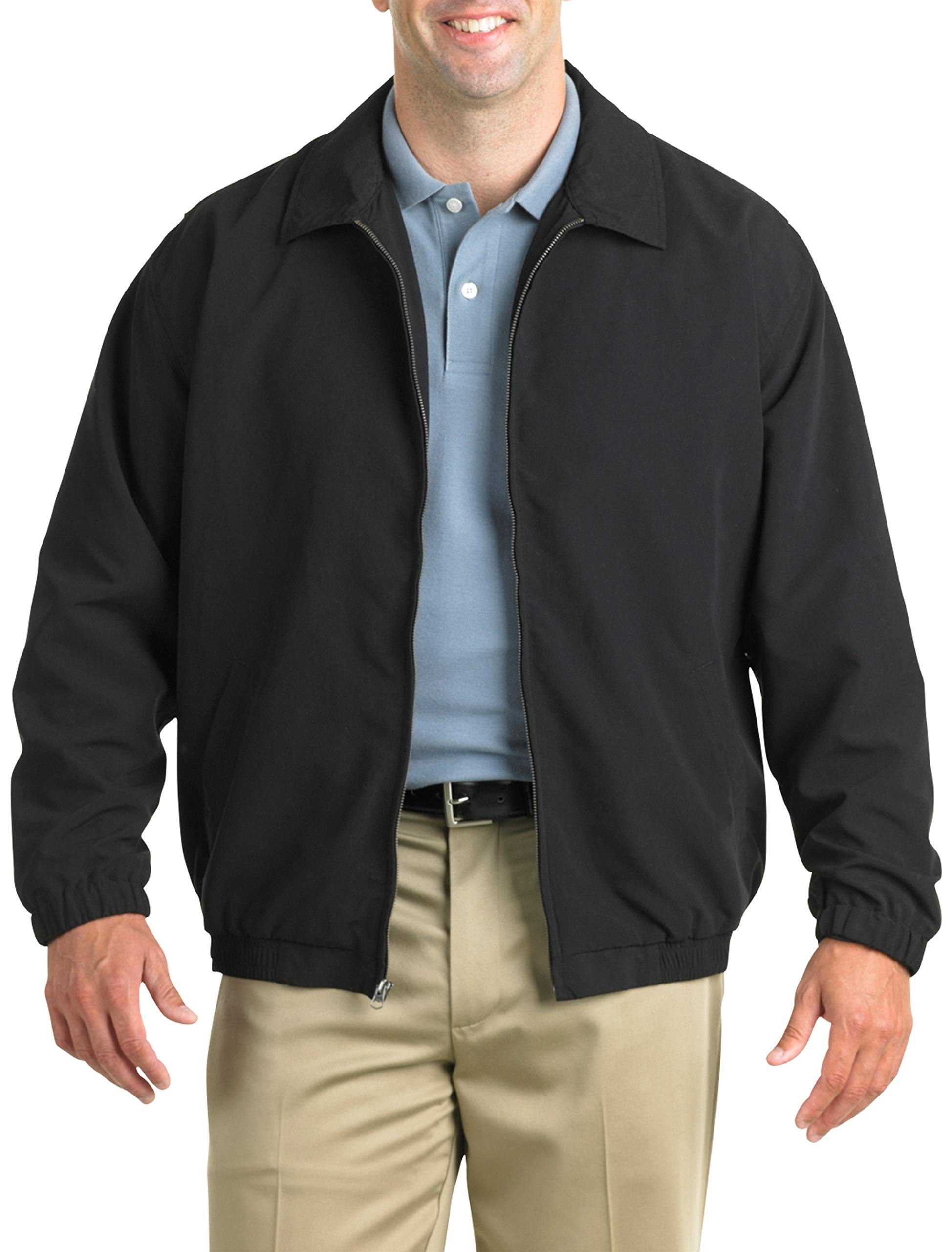 Harbor Bay by DXL Big and Tall Golf Jacket, Black, X-Large by Harbor Bay