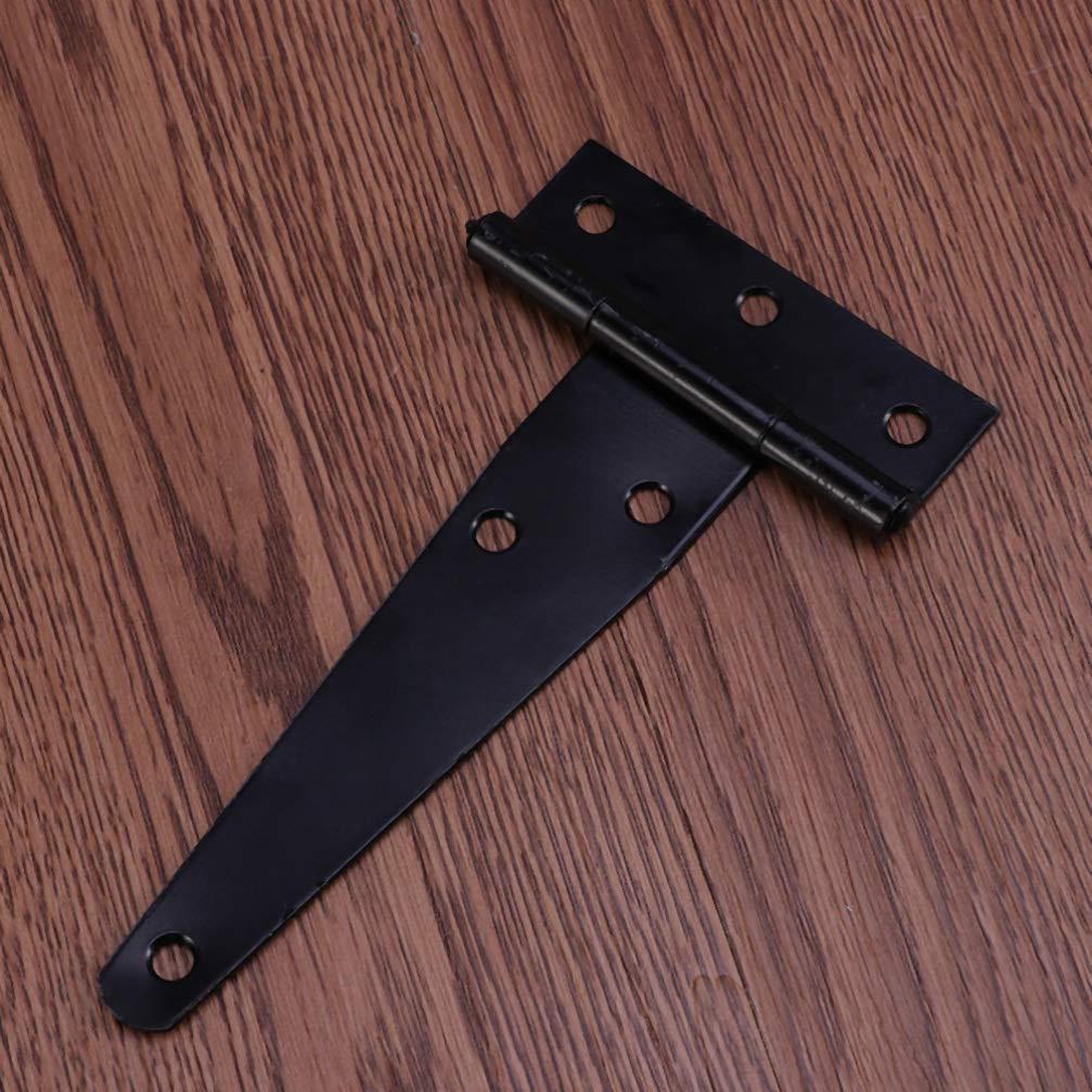 DOITOOL Bisagra de correa ligera de 2 piezas t bisagras de cobertizo resistentes a la oxidaci/ón bisagra de correa de puerta de hierro bisagra bisagra de puerta de granero 6 pulgadas
