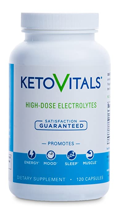 Keto Vitals, Energy Supplement for a Low Carb Diet or Keto Diet, Eliminate Fatigue and Accelerate Weight Loss with this Electrolyte Supplement! Sodium, Potassium & Magnesium, Money back guarantee!