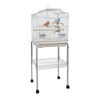 Baby Pablo Jaula para Pájaros con Soporte de mesa Aves pequeñas ...