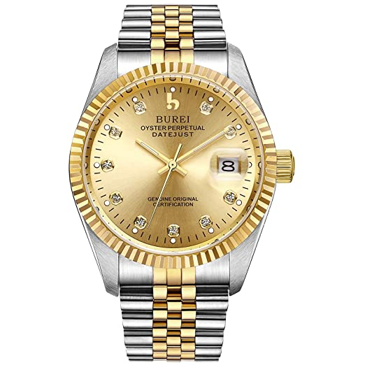 BUREI Reloj Elegante Casual de Hombres Caballeros de Cuerda automática Reloj mecánico con Cristal de Zafiro Fecha y Calendario: Jay Allen: Amazon.es: ...