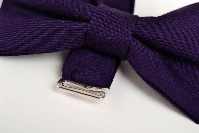 Corbata de lazo artesanal pajarita moderna de tla morada accesorio ...