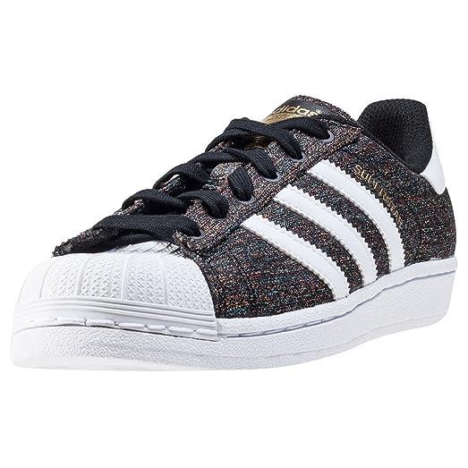 adidas Originals Boys Junior Boys Superstar J Trainers in Black-White - UK  5.5