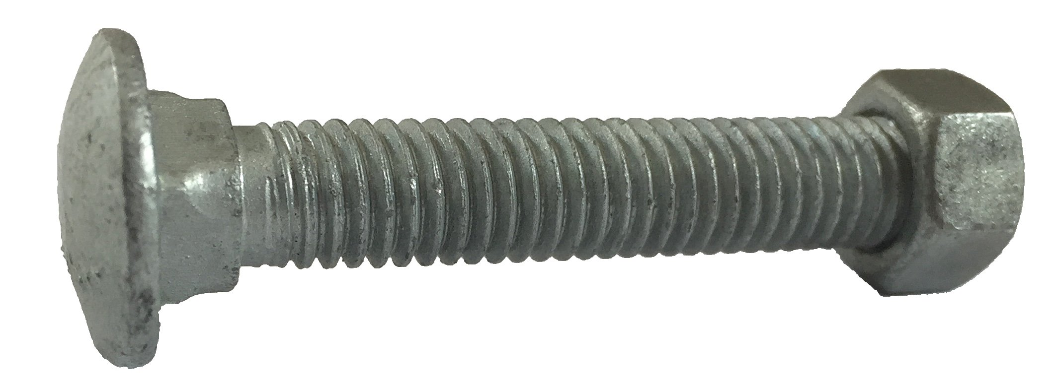 CARRIAGE BOLTS 3/8-16 x 2-1/2'': w/ NUTS Galvanized Bulk Carriage Bolt ~ Coarse Thread (2 1/2 inches long) (100 pieces) - Chain Link Fence Carriage Bolt w/Nuts