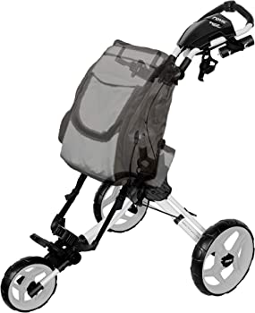 Rovic RV1D 3-Wheel Disc Golf Push Cart