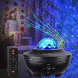 Projetor Galaxy Star, projetor de luz estrelada para quarto com 21 modos de iluminação com controle remoto e música integrada