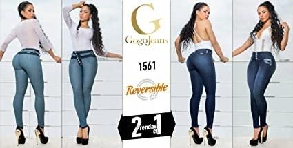 f3fb7082bd6 Made In Colombia Gogo Jeans Reversible 2 Prendas en 1 100% COLOMBIANOS PUSH  UP JEANS