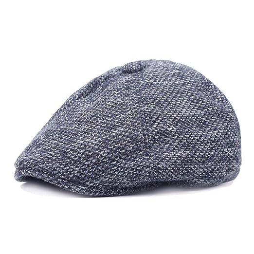 e77c14416453c Zesoma Winter Thicken Warm Beret Hats for Men Visors Gorras Planas Flat Caps  Berets