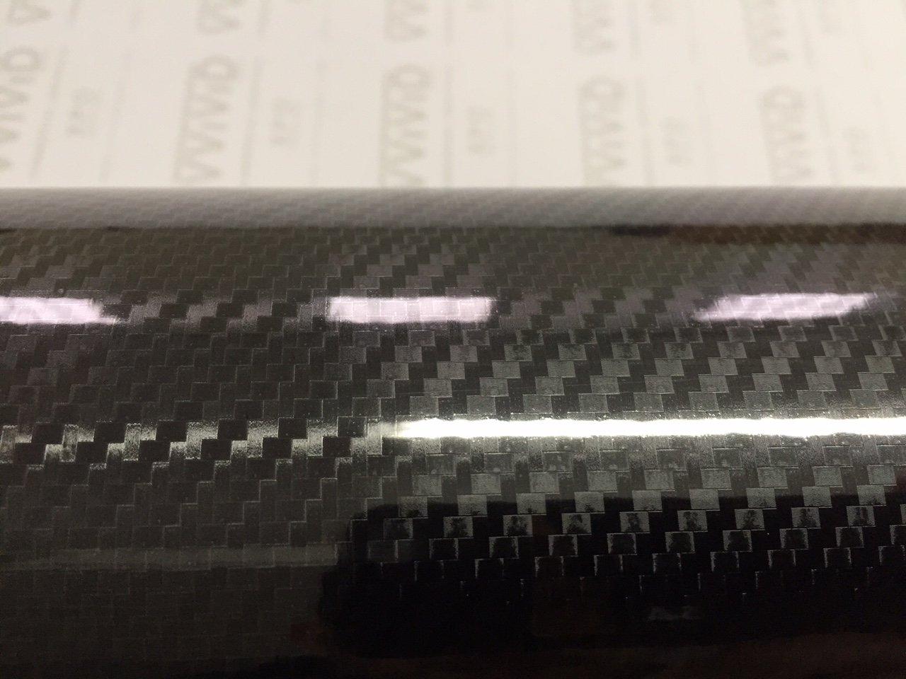VVIVID Epoxy High Gloss Black Carbon Vinyl Automotive Wrap Film DIY Easy to Install No Mess 1//2ft x 5ft