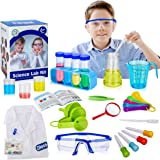 X TOYZ Kids Science Experiments Kit STEM Toys with 29-Piece Lab Tools for Scientist Costume Dress Up Including Lab Coat…