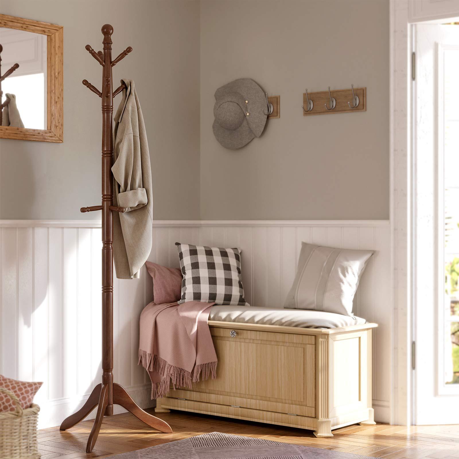 Coat Rack, Solid Wood Coat Stand