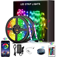 YOMYM LED Strip, LED Lights with Kit, Light Strip Controlled by Smart Phone, Wireless, WiFi 5050, Works with Android and…