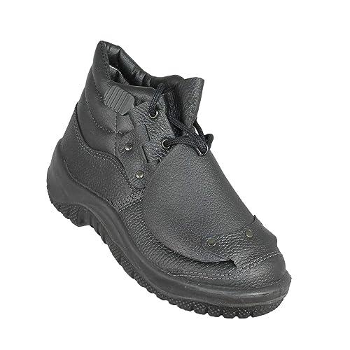 Almar - Calzado de protección de Piel para hombre, color negro, talla 42: Amazon.es: Zapatos y complementos