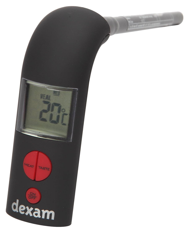 Dexam 2.6 x 3 x 17.3 cm Pre-Programmed Meat Thermometer, Black 17840322