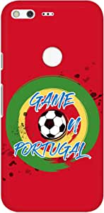 Stylizedd Google Pixel XL Slim Snap Basic Case Cover Matte Finish - Game on Portugal