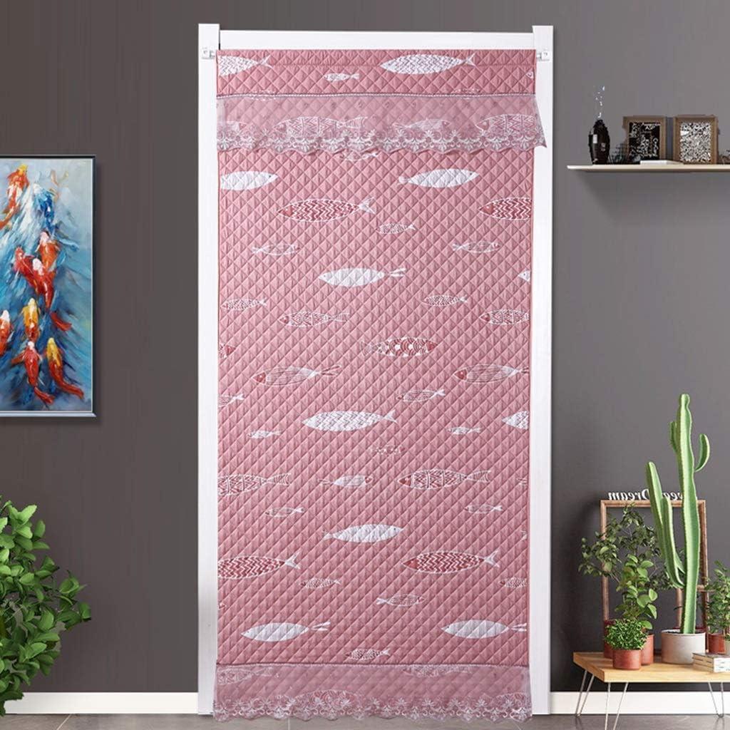 CUIS- Peces patrón de doble cara de algodón cortina, cortina de reparto en frío Protección contra el viento, Insonorización sin atenuación Calentar cortina de la puerta del invierno, Distintos métodos: Amazon.es: Hogar