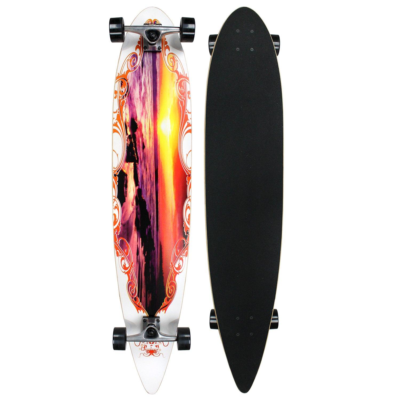 Krown Sunset City Surf Longboard Skateboard