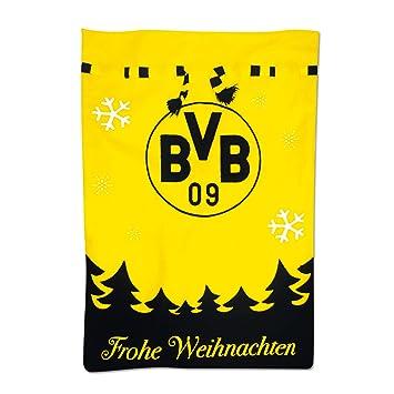 Bvb Frohe Weihnachten.Borussia Dortmund Weihnachtssakchen Schwarzgelb Filz 70 X 50 Cm Bvb Emblem Dortmund Skyline One Size