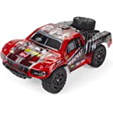 Cheerwing 1:16 2.4Ghz 4WD High Speed RC Off-Road Monster Truck Brushed Remote Control Car (Crimson)