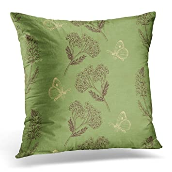 Amazon.com: Funda de almohada Sdamase con diseño de salvia ...