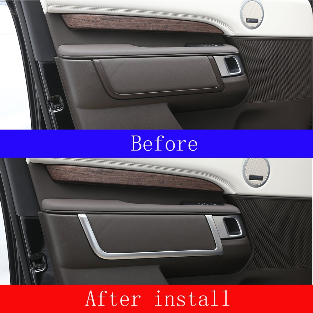 For Discovery 5 2017 2018 2019 LR5 L462 ABS Matte Chrome Interior Door Decoration Strips Accessories