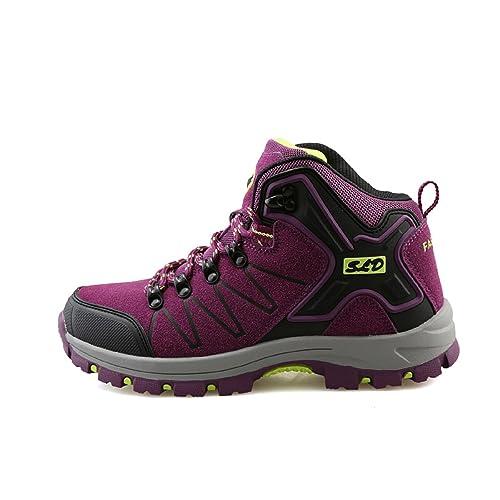 tqgold® Chaussures de Randonnée pour Homme Femme Bottes de Marche  Imperméable Mountain Montantes abc9cce1696f