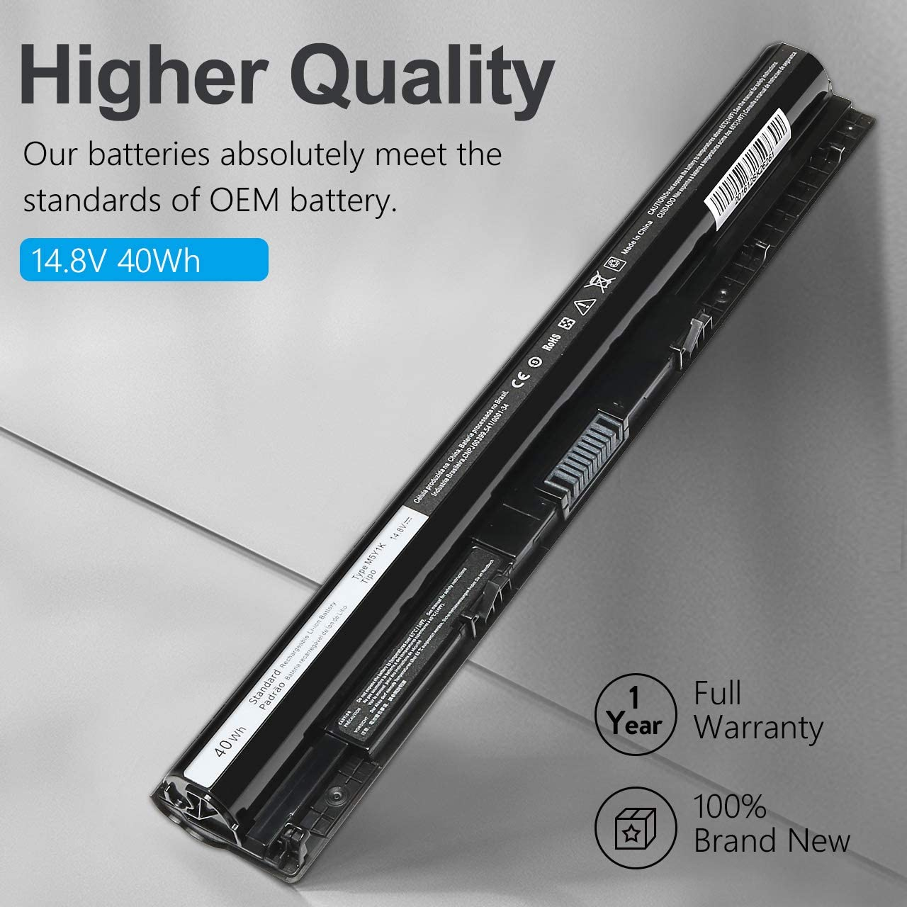 New M5Y1K Laptop Battery for dell Inspiron 3451 3551 3567 5551 5555 5558 5559 5758 Vostro 3458 3558 3468 Inspiron 14 15 3000 Series Fit K185W WKRJ2 VN3N0