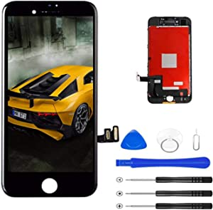 "Magic Tech Replacement for iPhone 8 Plus Black 5.5"" LCD Display Touch Digitizer Frame Assembly Full Repair Kit, with Repair Tools"