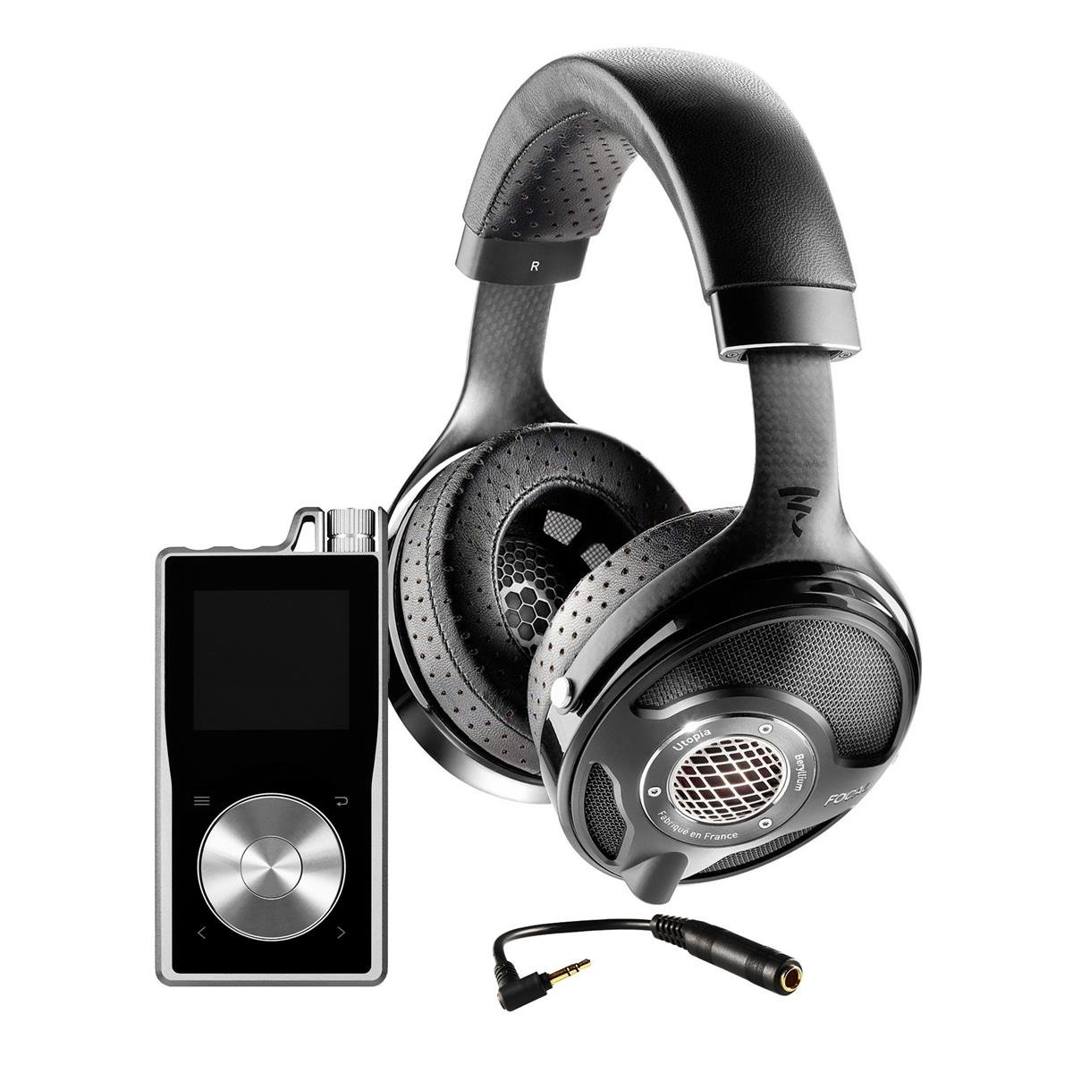 Focal Utopia open-back over-earヘッドフォンwith Questyle qp2r高解像度ポータブルデジタルオーディオプレーヤー(シルバー) B07FXY8WZ1