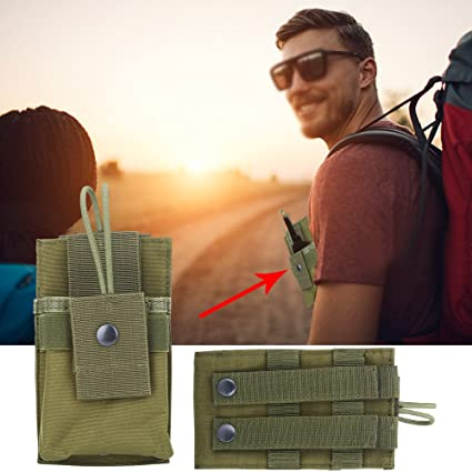 Molle Radio Pouch Small Tactical Military Police Hunting Tool Bag Two in One
