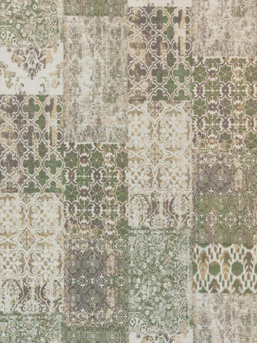 Ginore Vintage Patchwork Rugs - Deco Olive - 170 x 240 cm - Grün Teppich