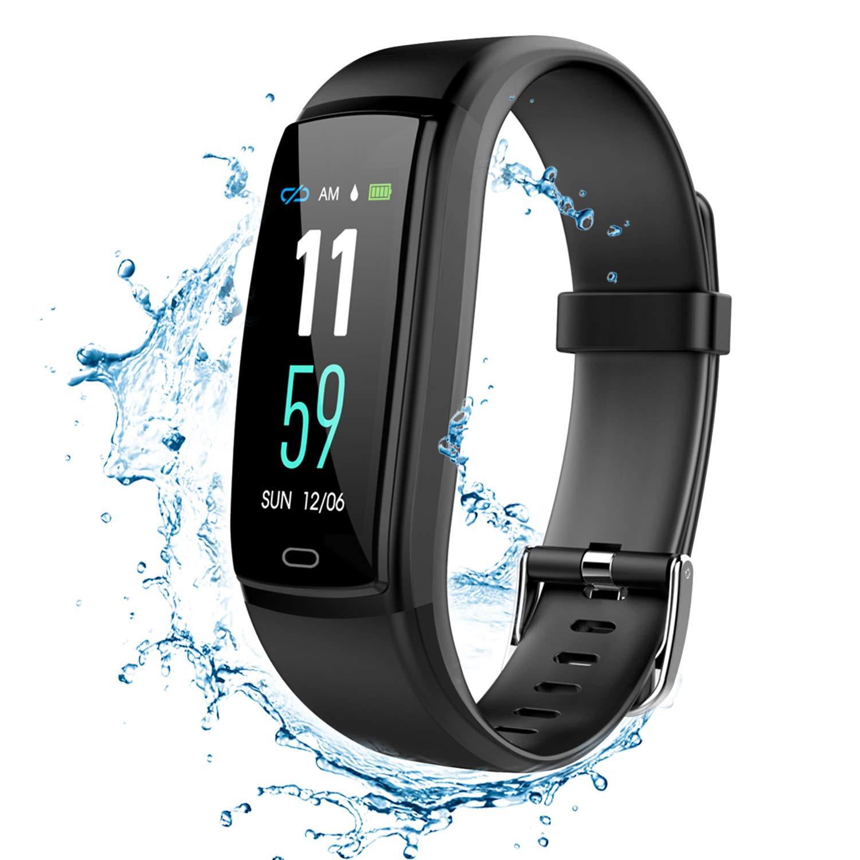 NEXGADGET Fitness Tracker Braccialetto Sportivo Intelligente con Monitor della Pressione Arteriosa e Frequenza Cardiaca, Contacalorie, Pedometro, Sonno Monitor, Sistema di Notifiche, Android/iOS Sistema di Notifiche, Android/iOS