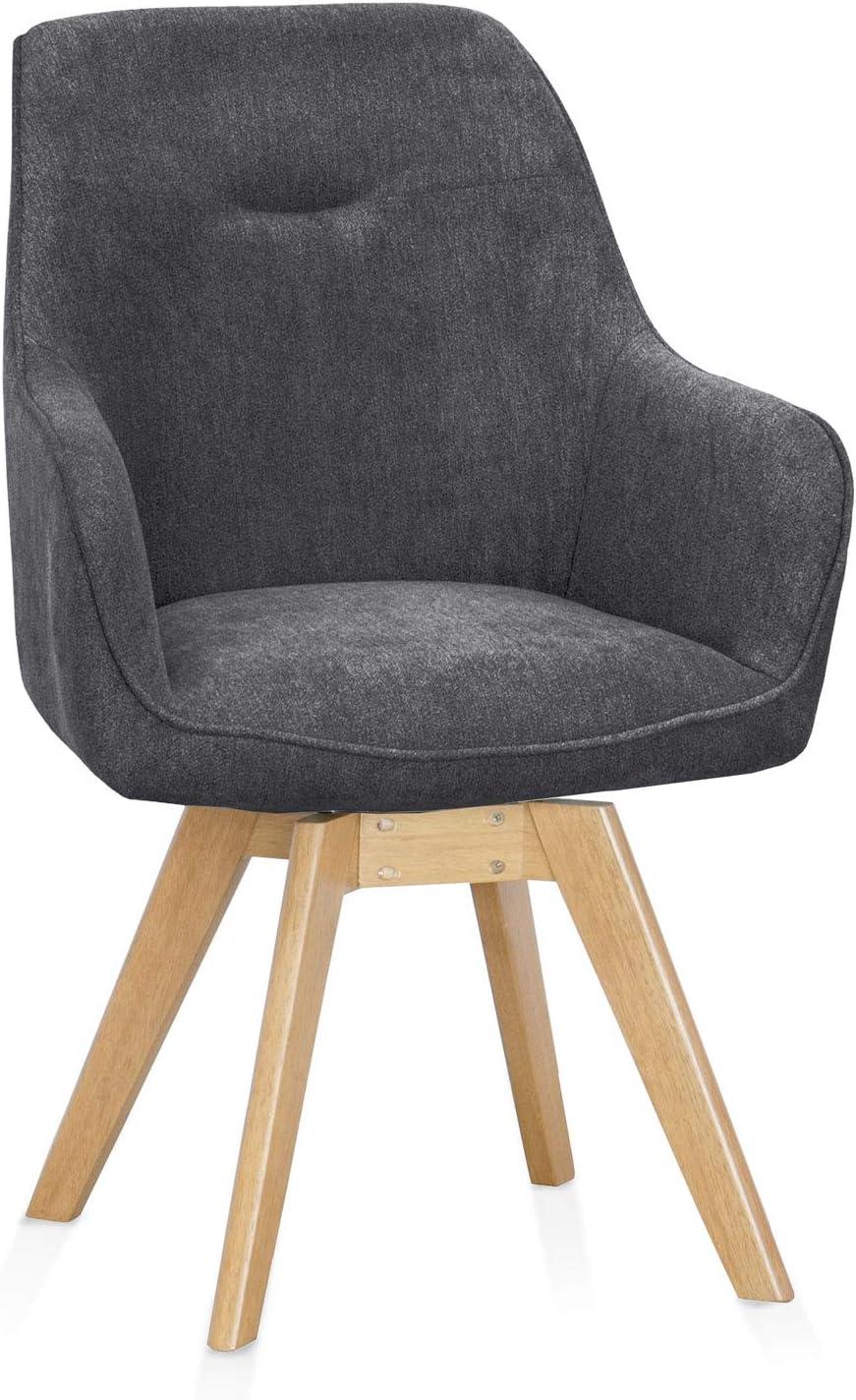 Material Stoff//Beine massiv moebel-eins Chilly Schalendrehstuhl drehbar Drehstuhl Esstischstuhl Schalensitz Schalenstuhl Stuhl