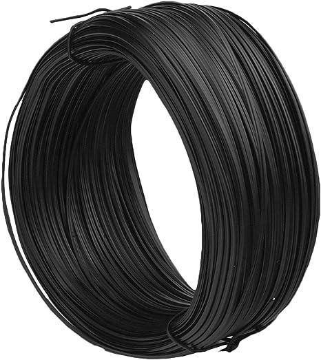 sunmns 200 pies metálico Twist Cable jardín lazos reutilizables cierre, negro: Amazon.es: Electrónica