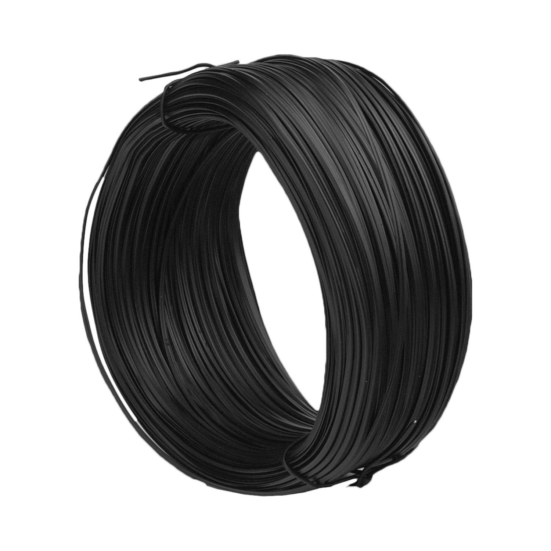 Sunmns 200 Feet Metallic Twist Cable Garden Ties Reusable Fastening, Black