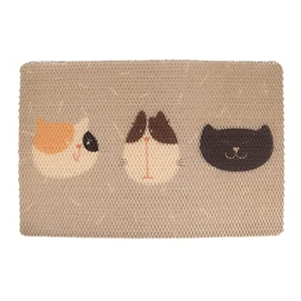 asiproper Pet Mat Cat Litter Pad Breathable Pet Dog Seat Cushion Cover (Three Cats L)
