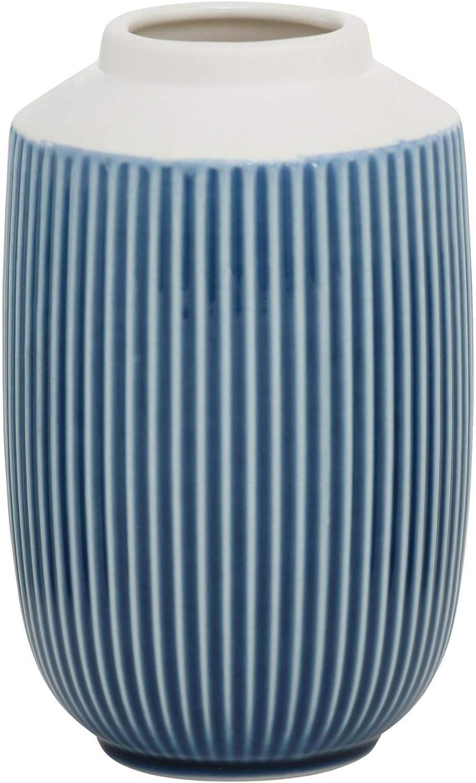 Jardineras de Porcelana con Estructura en Relieve Terracota Blanco Azul Azul Claro L/íneas Cuadradas Altura 15 cm CasaJame 3 x Macetas Jarrones de Mesa de Cer/ámica para Plantas