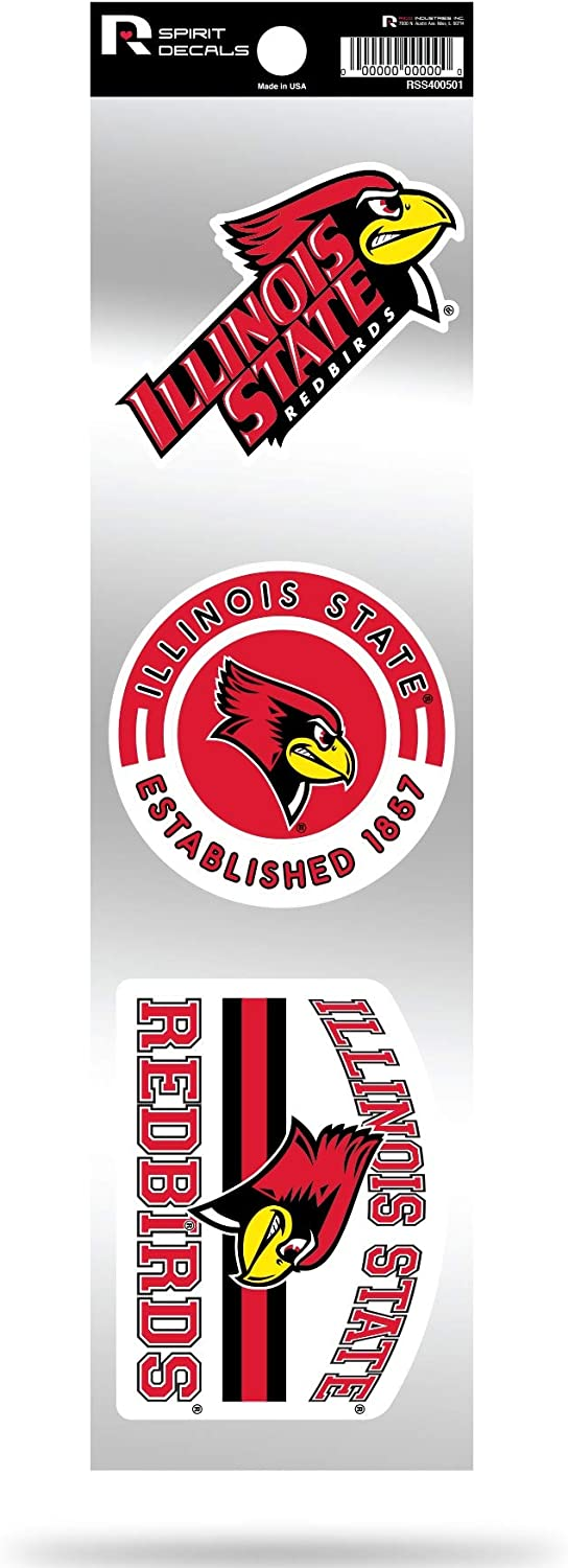Illinois State Redbirds Triple Retro Throwback Spirit Decals Flat Vinyl Auto Home Sticker Sheet University of