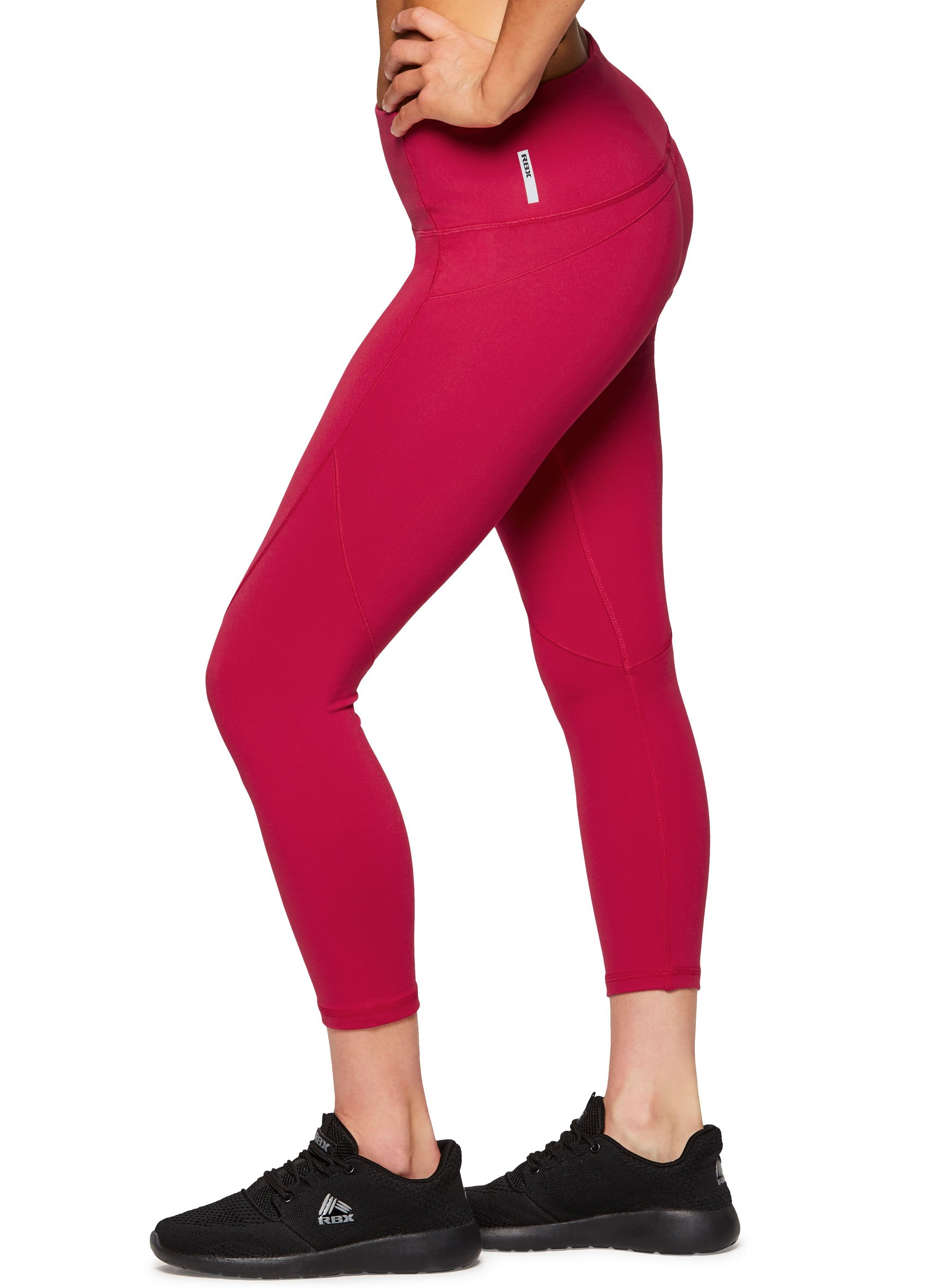 RBX Active Women's High Waist Yoga Workout Leggings Power Hold Red XL