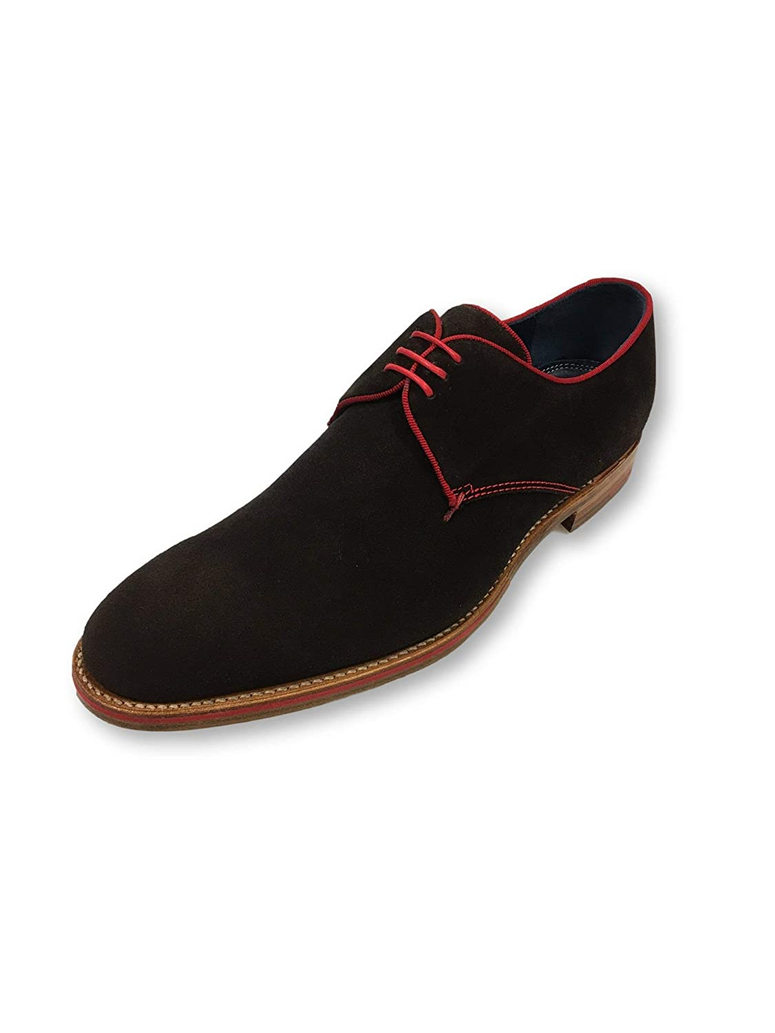 - Barker Rebus shoes in Chocolate Suede and red Size 9 Suede