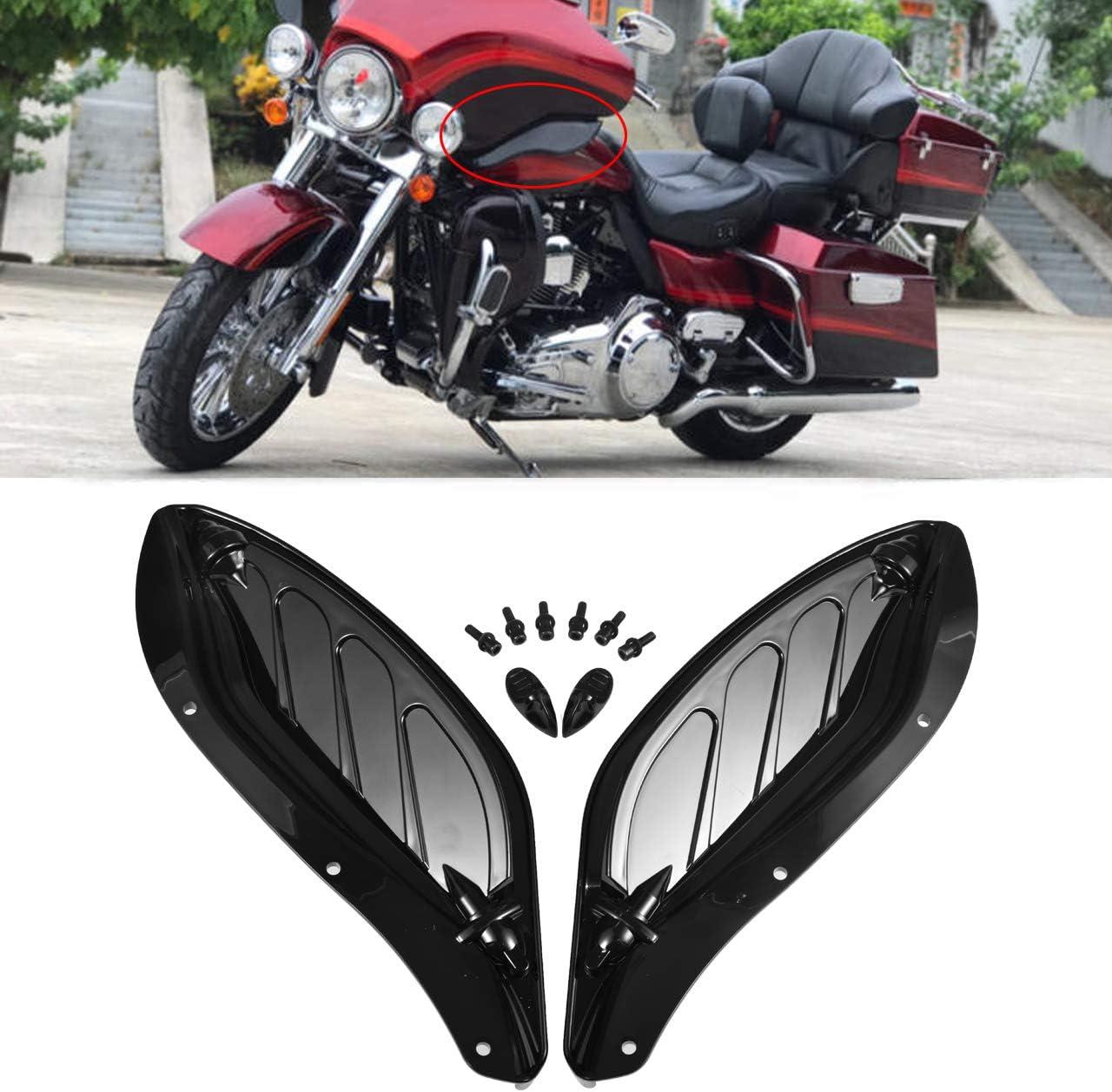Tuincyn Motorrad Einstellbare Seitenflügel Luftleitbleche Verkleidung Harlay Davidson 96 13 Schwarz Auto