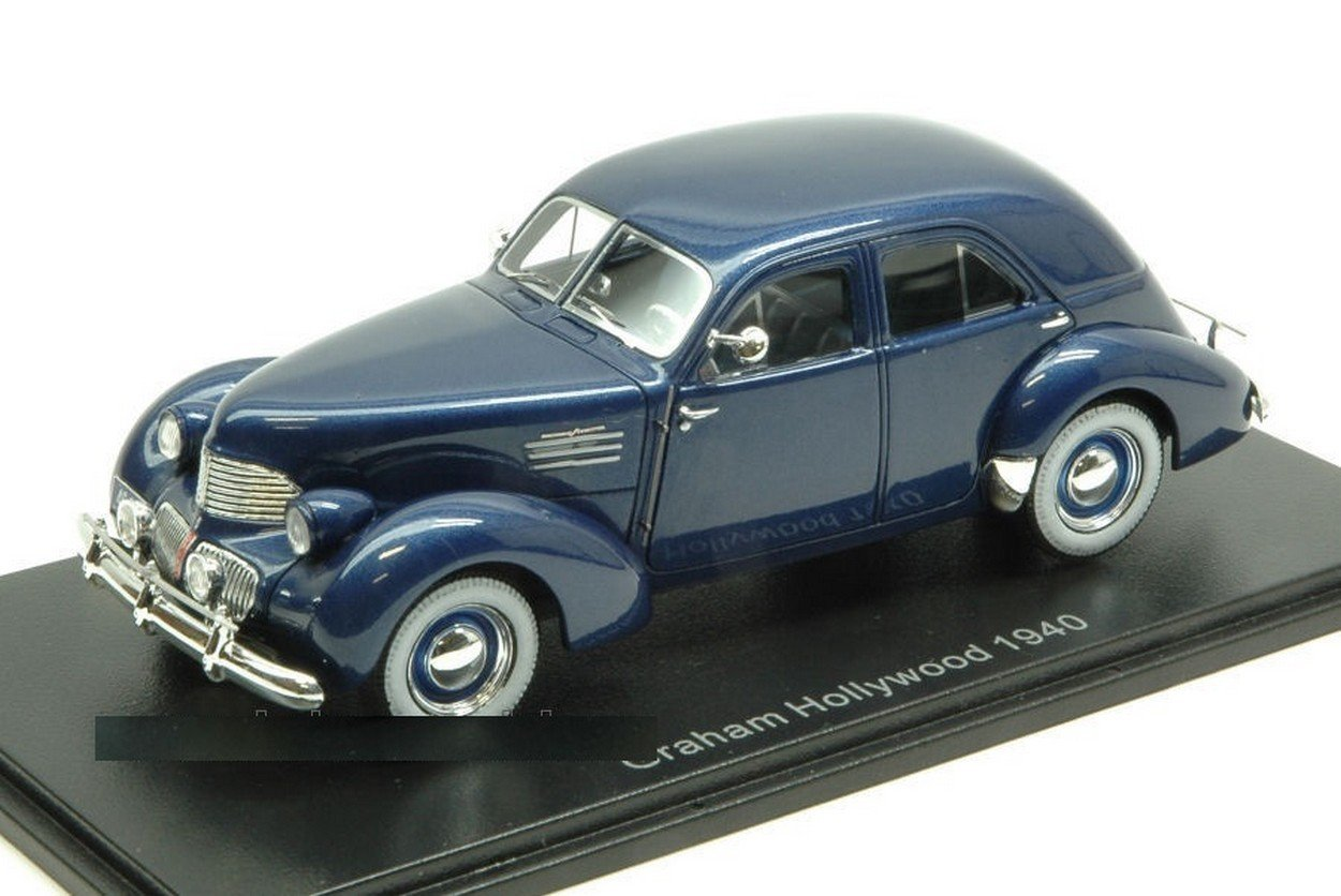 NEO SCALE MODELS NEO46610 GRAHAM HOLLYWOOD 1940 BLUE 1:43 MODELLINO DIE CAST