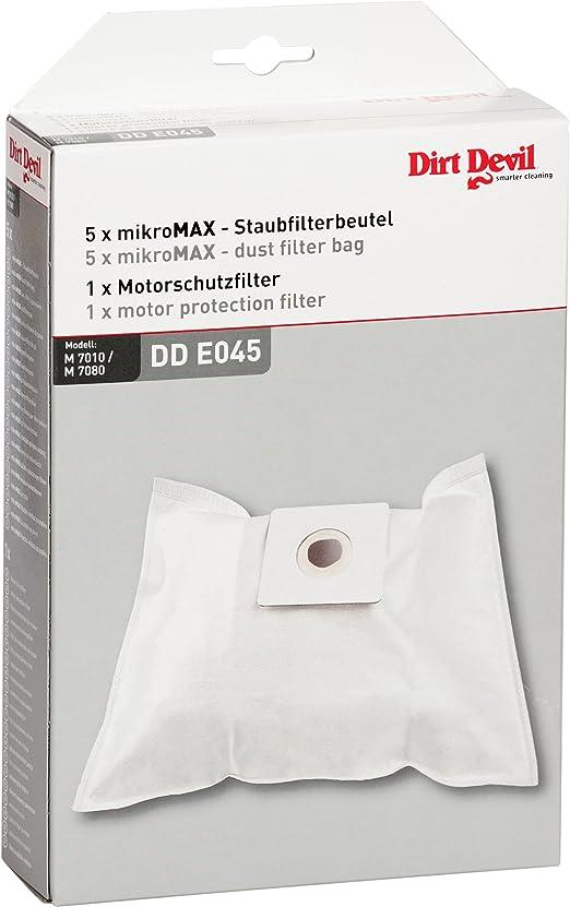 Dirt Devil 7010022 - Juego de 5 bolsas para aspiradoras y 1 filtro de protección del motor para aspiradoras Dirt Devil Skuppy M 7011: Amazon.es: Hogar