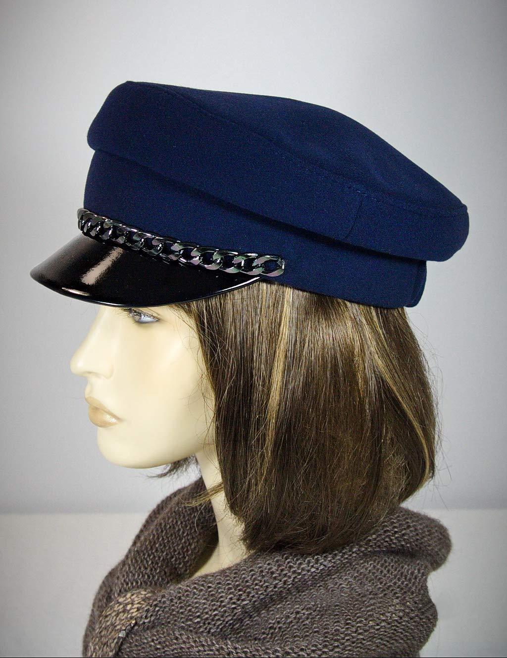 3884be84 Amazon.com: Breton hat, cap with strap, john lennon cap,baker boy cap,  captains hat, breton style, baker cap, blue breton hat, cape breton hat.:  Handmade