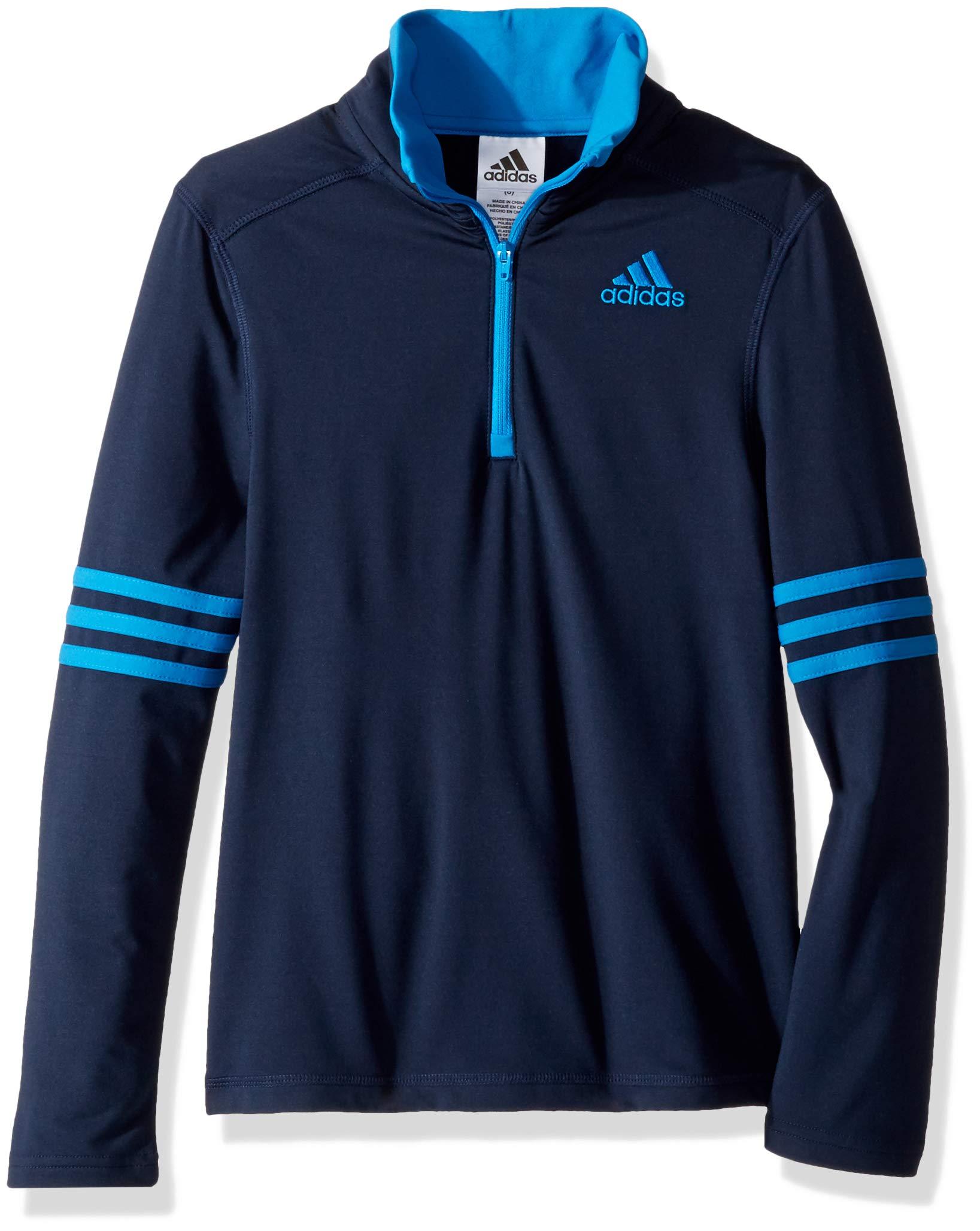 adidas Boys' Little Athletic Quarterzip, Navy/Blue, 2T