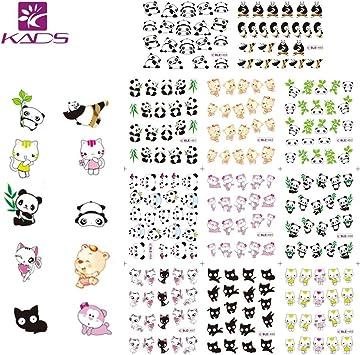 KADS 4pcs Nueva Imagen Nail Art Stickers Plantilla Uñas Decoración ...